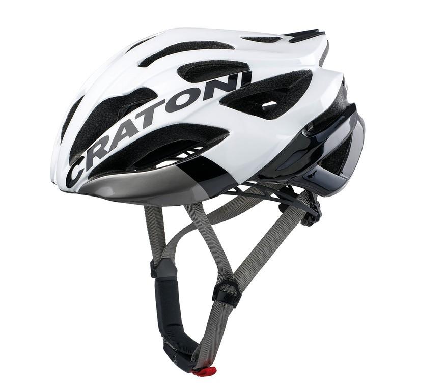 Cyklo-helma Cratoni C-šroub (Road), vel. M/L (56-59cm) bílá/cerná lesk