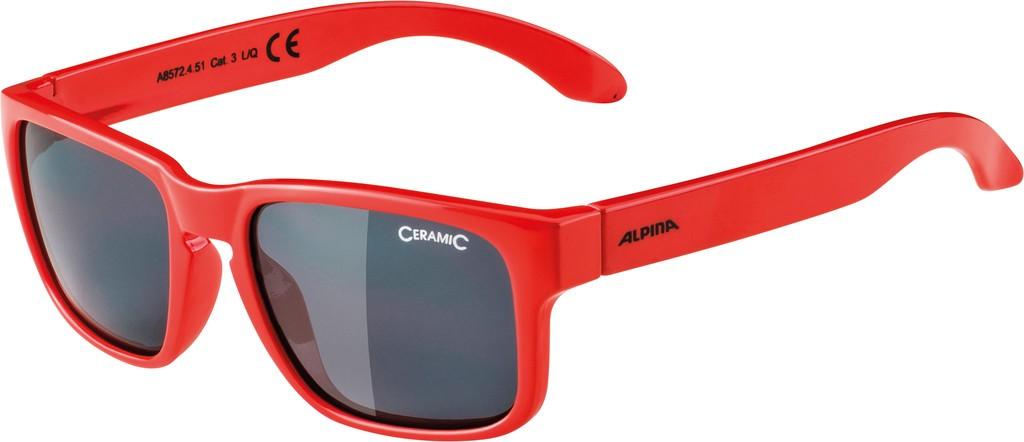 Slunecní brýle Alpina Mitzo, Obroucky cerv.sklo cerná zrcadl.S3
