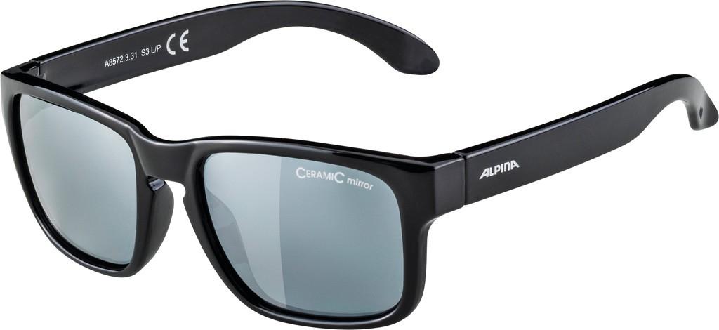 Slunecní brýle Alpina Mitzo, Obroucky cerná sklo cerná zrcadl.S3