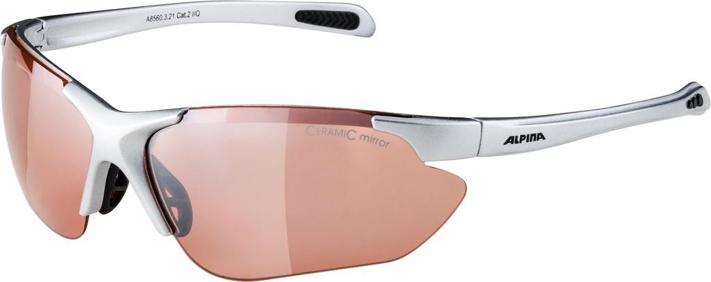Slunecní brýle Alpina Jalix, Obroucky stríbrná/crn Skla oranž.zrc. S2
