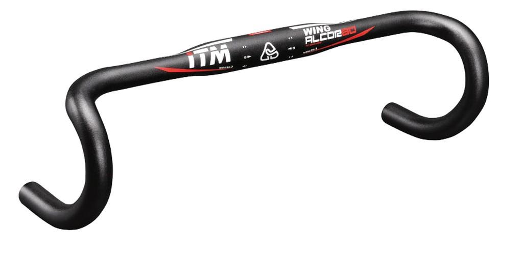 Závodní ridítka ITM Alcor 80 Wing, Ø31,8 mm, 380mm, Al 6061 cerná anod.