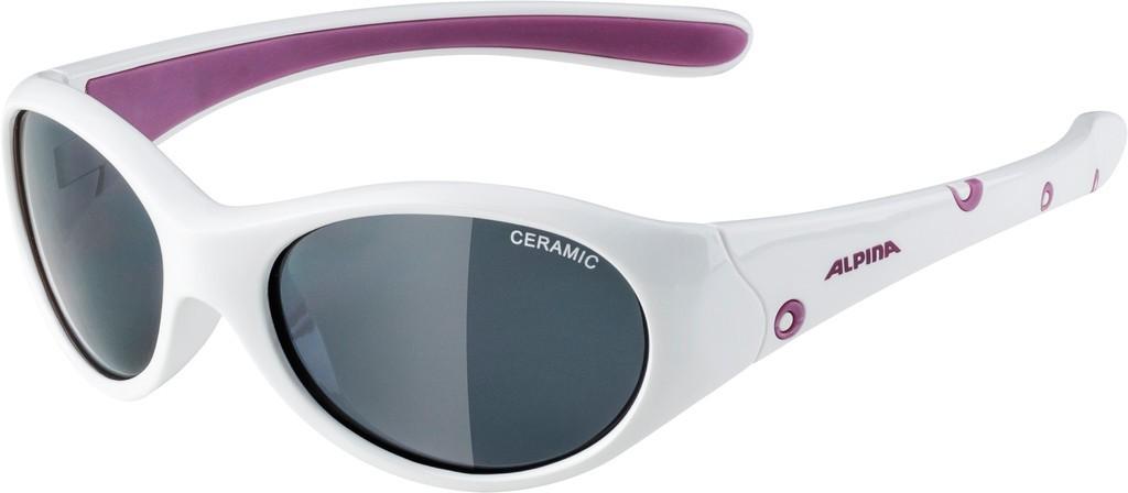 Slunecní brýle Alpina Flexxy Girl, Obroucky bílá/lila Skla cerná zrcadl.S3