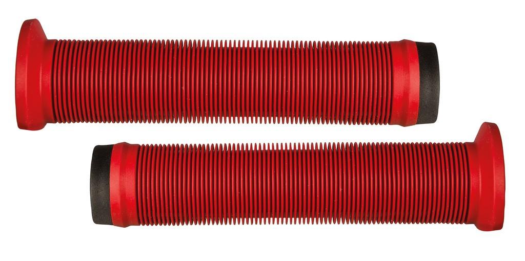 Gripy Herrmans BMX Ink HalfFlange, 140mm, Ø 22mm, cervená, pár