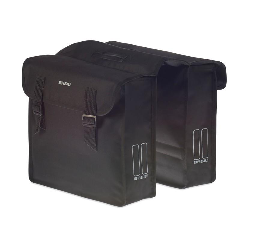 Dvojitá taška Basil Mara cerná, 35x10x33cm, 26 l