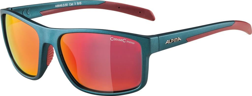 Slunecní brýle Alpina Nacan I, Obroucky indigo mat.cherry sklo cerv.zrc
