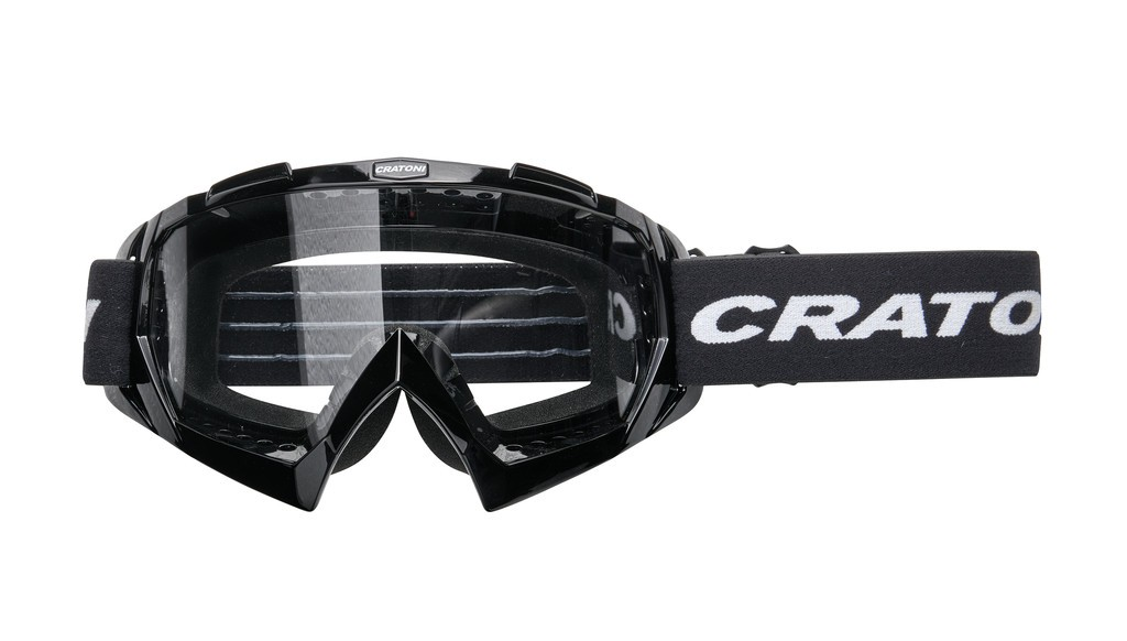 Cratoni C-Rage černé (čiré sklo)