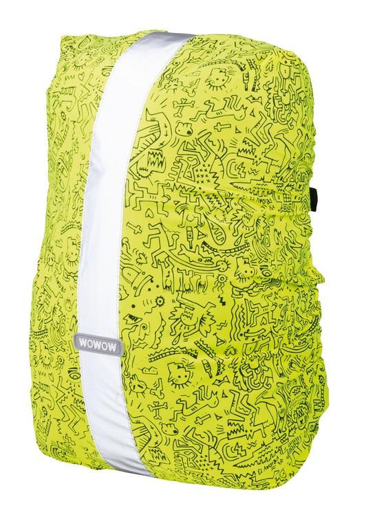 Obal na batoh Wowow Rebel Colors žlutá, Graffiti-potisk, 25 l
