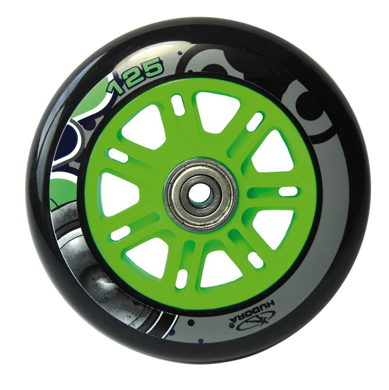 Kolečko Hudora Big Wheel 125 mm zelená/modrá mod.14753