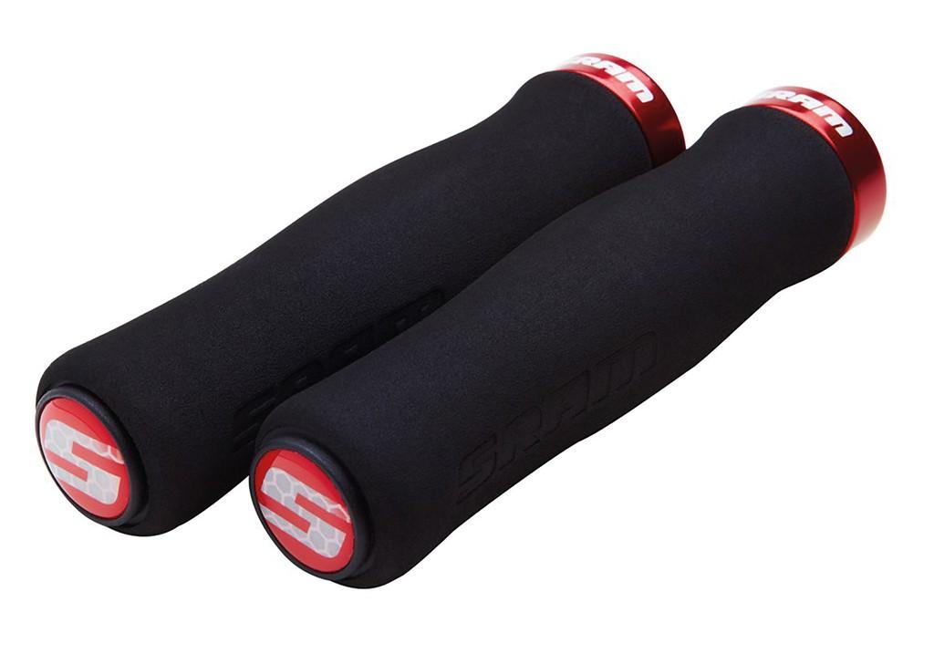 Soft gripy Contour,zajiš.šrouby, 129mm crn,objímka,cervená+ucpávky
