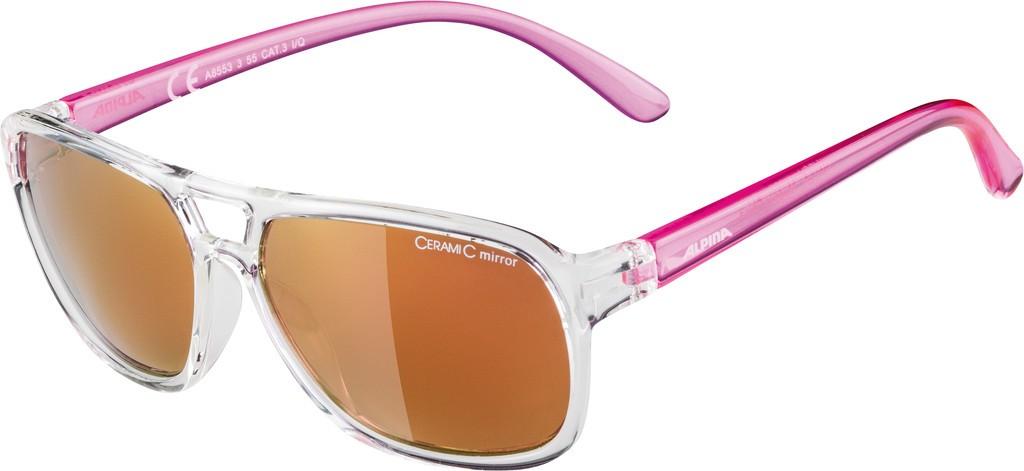 Slunecní brýle Alpina Yalla, Obroucky cirá/pink Skla pink vesp.S3