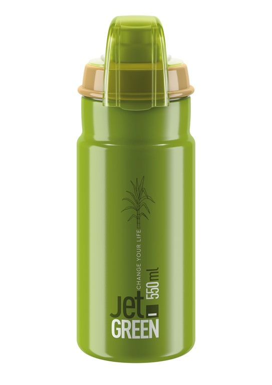 Láhev Elite Jet Green Plus, 550ml, zelená/oliv
