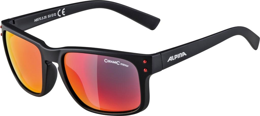 Slunecní brýle Alpina Kosmic, Obroucky crn mat.Skla cervená zrcadl.S3
