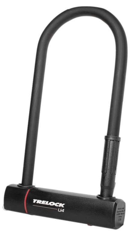 U-zámek Trelock + držák ZB 401, U4, cerná, 102-230mm, Ø14mm