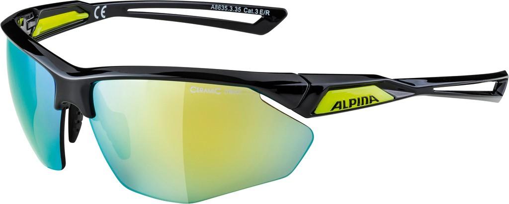 Slunecní brýle Alpina Nylos HR, Obroucky crn/neon.žlutáSkla žlutá zrc.S3