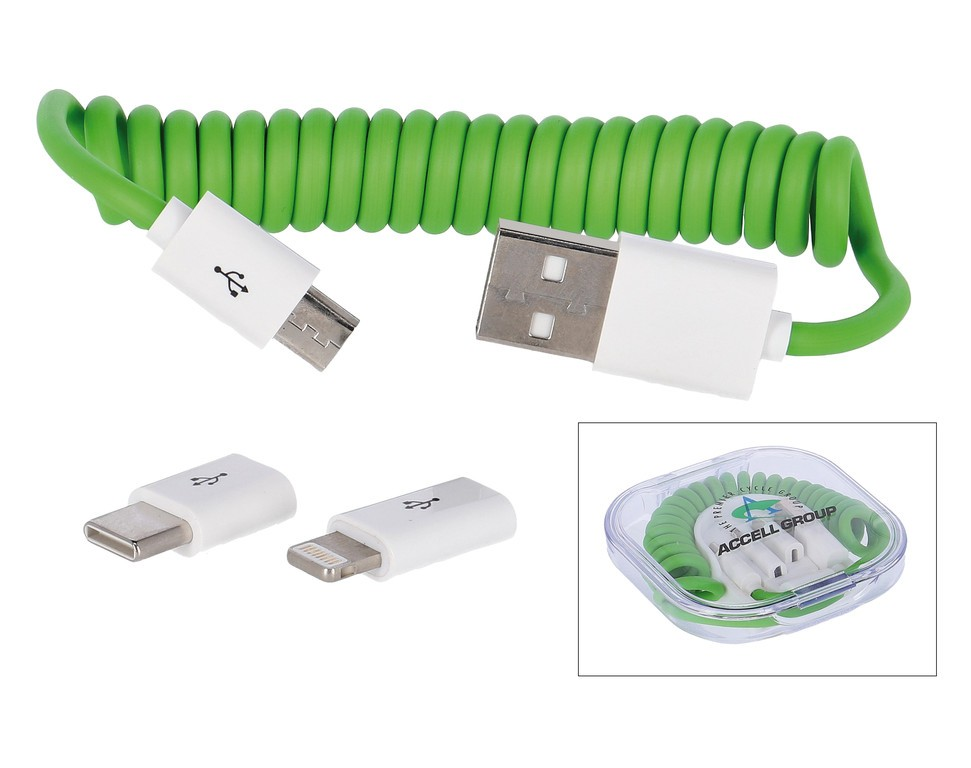All-in-One nabíjecí kabel všechny znacky cirá/zelená