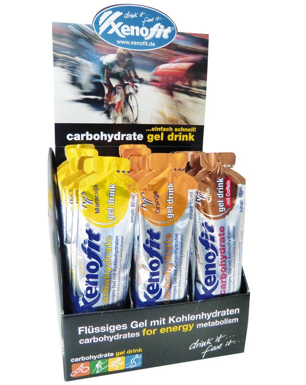 Carbohydrate Gel Drink-displej Xenofit 21 sácku á 60ml mix