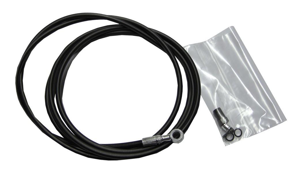 Hadice pro hydr.brzdy- XX, Juicy Ultimate, Juicy 7, Juicy 5, 2000mm, Aluminum Banjo, černá