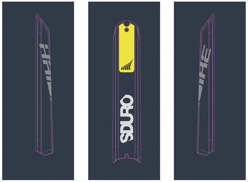 Dekor E-Bike Sduro p.skidplate baterie, 2018, HB-S13 citron