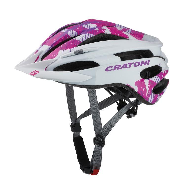 Cratoni Pacer (MTB), Vel. XS/S (49-55cm) bílá/ružov. lesk