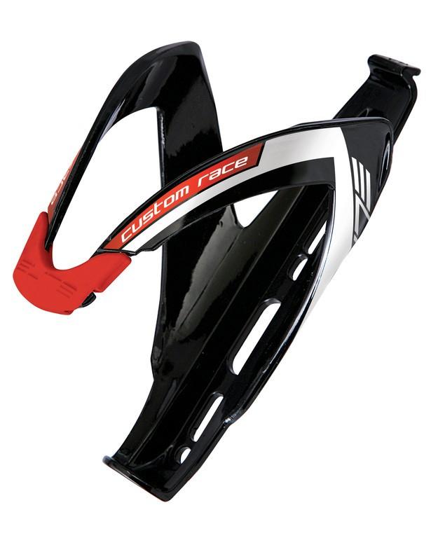Elite košík CUSTOM RACE lesklý černý/červený