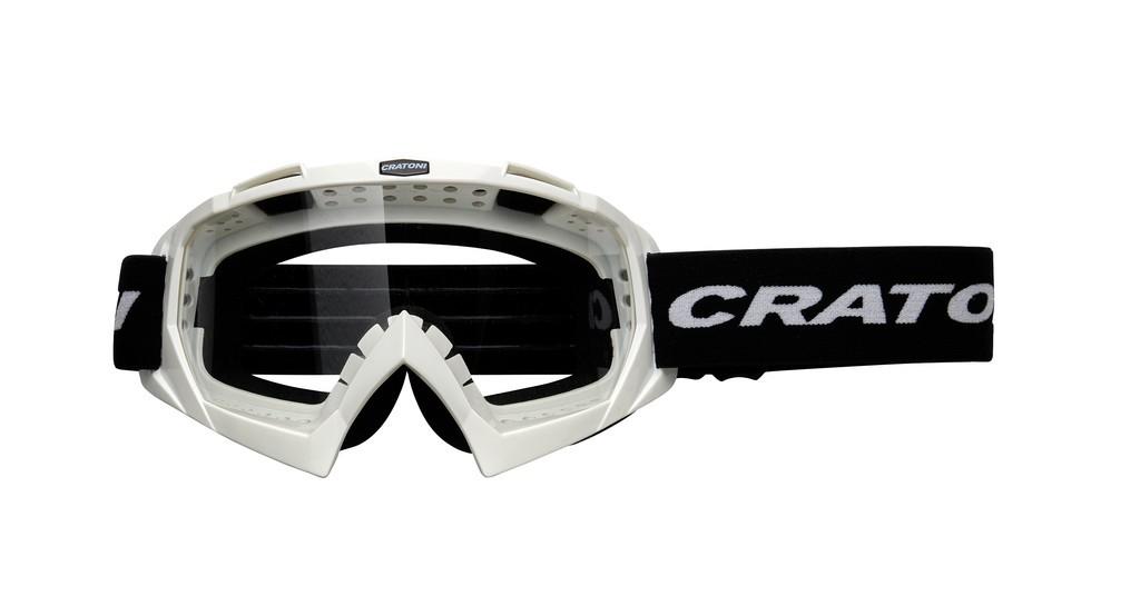 Cratoni C-Rage bílé (čiré sklo)