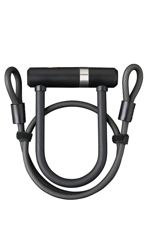 Rámový zámek Axa Newton Mini Pro+Cable, Délka oblouku 140mm, prumer oblouku 17mm