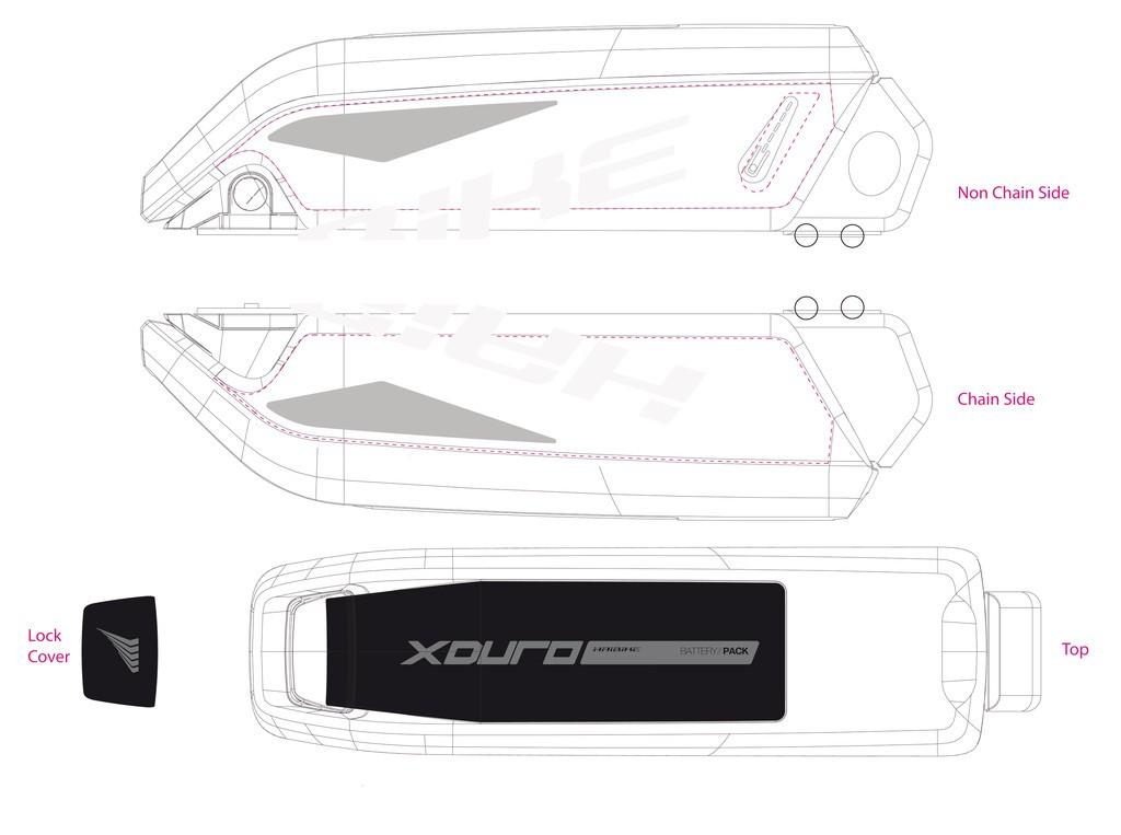 Dekor E-Bike Xduro p.kryt akumulátoru, 2015,bílá+šedá