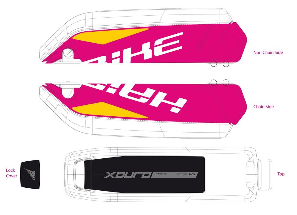 Haibike Xduro pro baterii 2015 bílá/žlutá