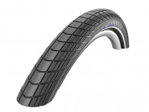 PNEU SCHWALBE BIG APPLE 12x2.00 K-GUARD RIGIDE NOIR C/RÉFL