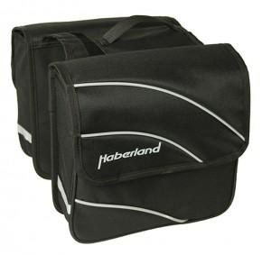 Haberland sacoche double  Kim S 20' noir, 24x24x8,5cm, 10l