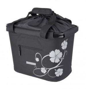 sacoche panier AV BlueBird, support QR noir/hibiscus 35.9 x 26.4 x 27.3cm, 20l