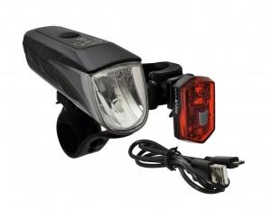 set éclairages LED à piles noir, piles lithium, support inclus