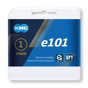 CHAÎNE KMC E101 EPT 1/2x1/8 LARGE 112 MAILLONS MOYEU ARGENT