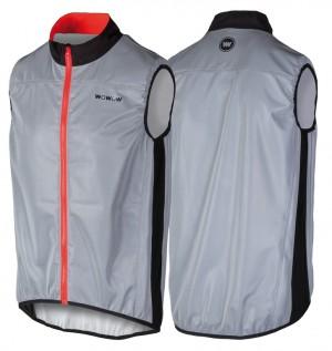Wowow wind vest  Stelvio grey reflective