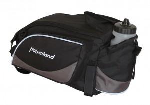 Haberland sacoche porte-bag. Flexibag L noir/argent, 36x20x24cm, 17 l