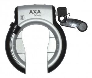 Antivol cadre Axa Defender RL arg./noir avec clé réversible, fixation cadre