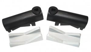 Peruzzo support complet Topbike 2 pièces en caoutchouc + 2 en plastique