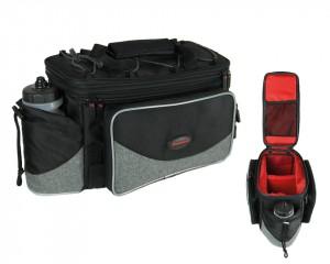 Haberland sacoche porte-bag.  FlexibagTop noir/gris, 40x22x24cm, 20ltr, UniKlip