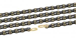 Xlc chaîne  CC-C03 1/2 x 11/128, 114 mail. 10 vit noir/doré