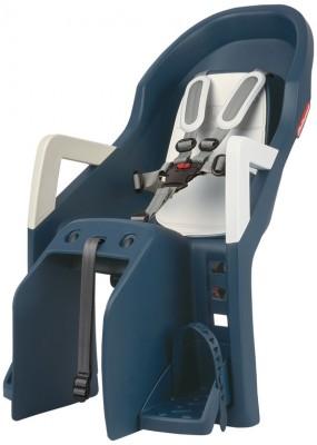 siège enfant Polisport Guppy Maxi CFS jeans/crème, fixation porte-bagages