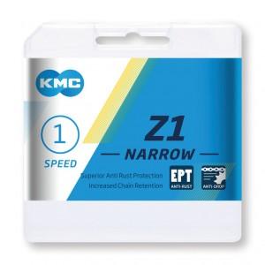Kmc chaîne  Z1 Narrow EPT p. moy.vit.int. 1/2 x 3/32', 112 maillons, 7,3mm. gris