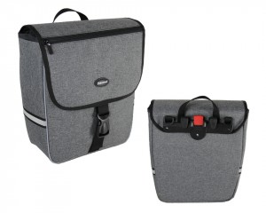 Haberland sacoche simple  Trend L Grey Deluxe, 34x37x16cm, 20 litres
