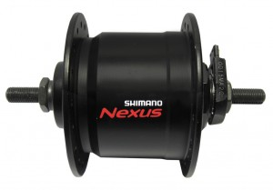 36 Trous Noir Avant Shimano dhc3000 VR-Moyeu Dynamo 100 mm