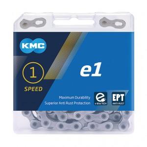 Kmc chaîne  e1 EPT p. moyeu à vit. integ. 1/2 x 3/32', àtroit, 110 maillons,argent