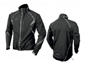 veste anti-pluie Wowow Commuter noir a bandes réfléchissantes