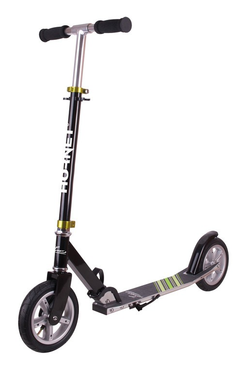 Hudora trottinette hornet 8' 200 air noir/vert 200mm