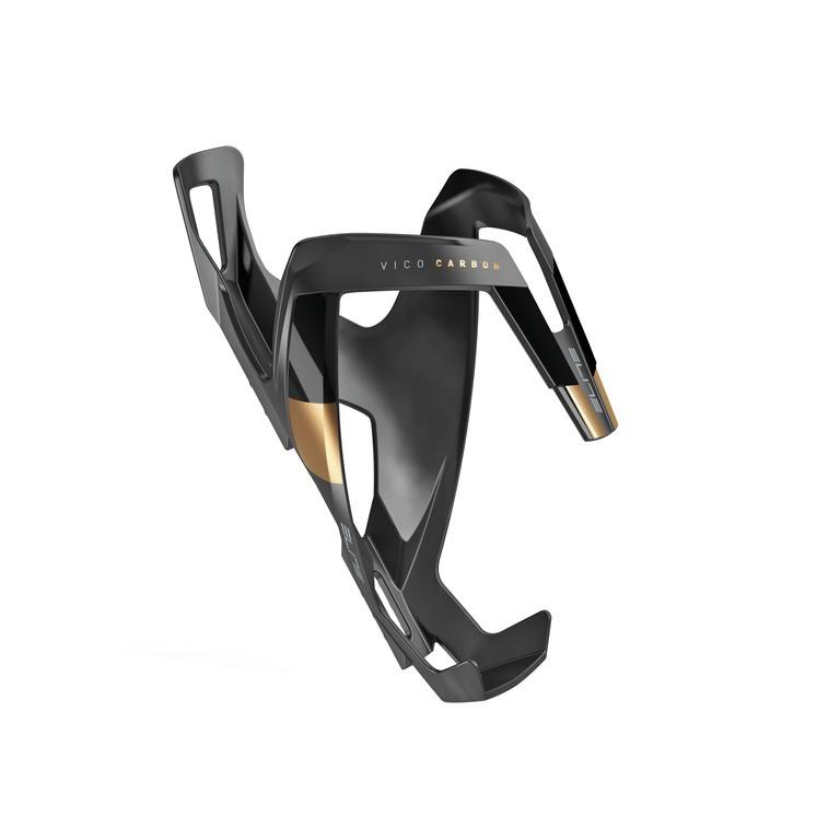 Košík na láhev Elite Vico Carbon černý/zlatý