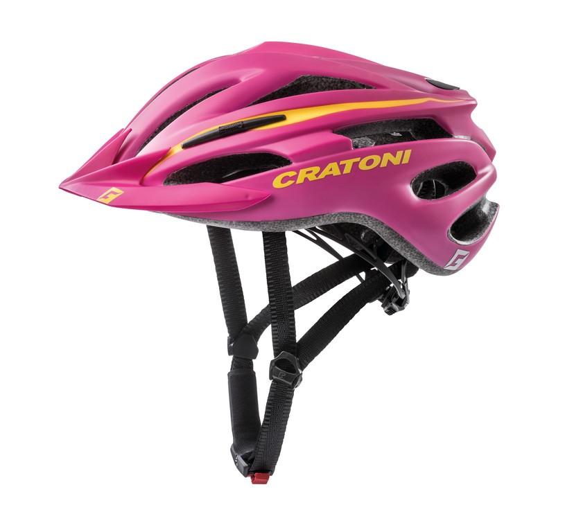 Cratoni Pacer  vel.XS/S (49-55cm) růžová/žlutá mat